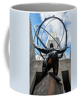 Atlas At Rockefeller Center Coffee Mug by Steven Richman