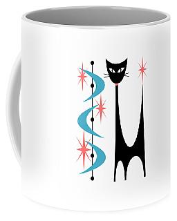Atomic Cat Turquoise And Pink  Coffee Mug