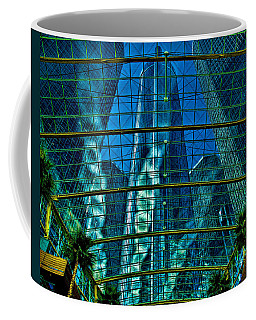 Coffee Mug featuring the photograph Atrium Gm Building Detroit by Chris Lord