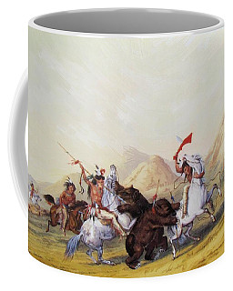 Attacking The Grizzly Bear 1844 Coffee Mug