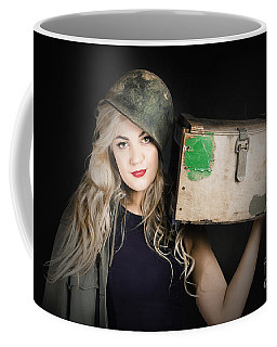 Attractive Pinup Girl. Blond Bombshell Coffee Mug