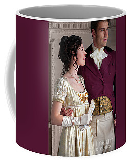 Attractive Regency Couple Coffee Mug by Lee Avison