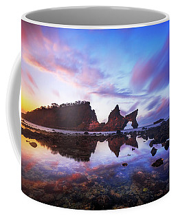 Atuh Beach Dawn Break Scene Coffee Mug