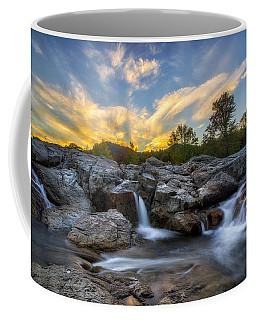 Coffee Mug featuring the photograph Auasble River Sunset 2 by Mark Papke