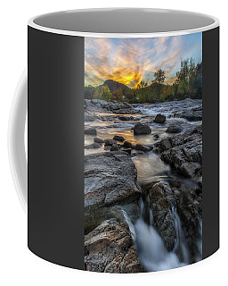 Coffee Mug featuring the photograph Auasble River Sunset by Mark Papke