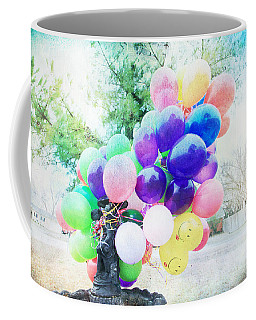 Smiley Face Balloons Coffee Mug