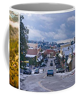 Coffee Mug featuring the photograph Auburn California Triptych by Sherri Meyer