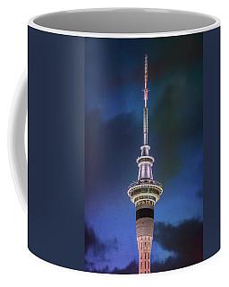 Coffee Mug featuring the photograph Auckland Sky Tower Night II by Joan Carroll