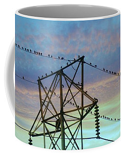 Coffee Mug featuring the photograph Auditioning For A Hitchcock Movie by Benanne Stiens