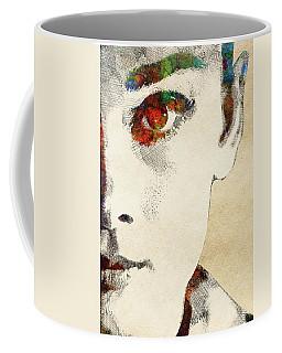 Audrey Half Face Portrait Coffee Mug