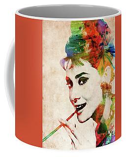 Audrey Hepburn Colorful Portrait Coffee Mug