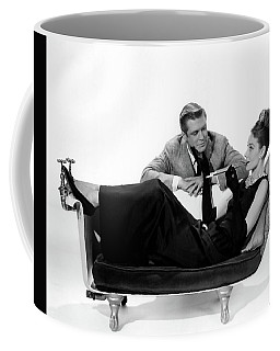Coffee Mug featuring the photograph Audrey Hepburn Holly Golightly Breakfast At Tiffanys  by R Muirhead Art