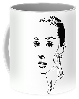 Audrey Hepburn Coffee Mug by Rabi Khan
