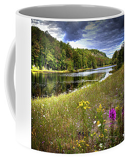 Coffee Mug featuring the photograph August Flowers On The Pond by David Patterson