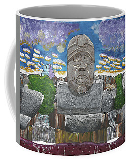August  Olmec Head Coffee Mug