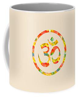 Aum Symbol Abstract Digital Painting Coffee Mug by Georgeta Blanaru