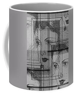 Aunt Edie Black And White Print Coffee Mug
