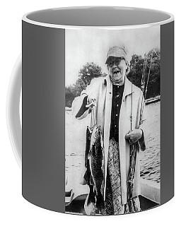 Aunt Grace Fishing Coffee Mug by Paul Seymour