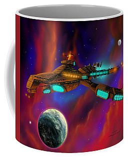 Coffee Mug featuring the painting Auroborus 2015 by James Christopher Hill