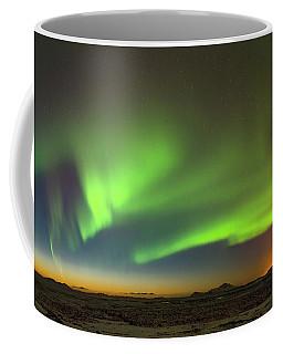 Aurora Above Keflavik In Iceland. Coffee Mug