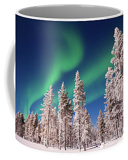 Coffee Mug featuring the photograph Aurora Borealis by Delphimages Photo Creations