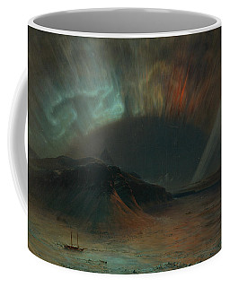 Coffee Mug featuring the painting Aurora Borealis by Frederic Edwin Church