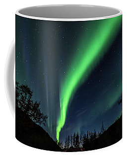 Aurora Borealis, Northern Lights In Denali National Park Coffee Mug