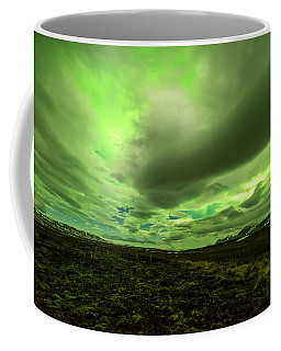 Aurora Borealis Over A Frozen Lake Coffee Mug