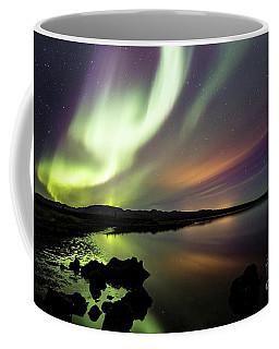 Aurora Borealis Over Thinvellir Coffee Mug