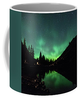 Aurora On Moraine Lake Coffee Mug by Alex Lapidus