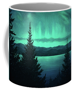Aurora Over Lake Pend Oreille Coffee Mug