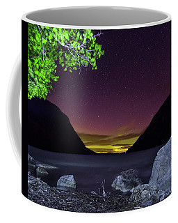 Aurora Over Lake Willoughby Coffee Mug