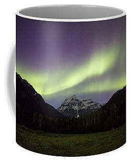 Aurora Over Mt Robson Coffee Mug