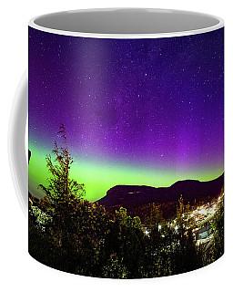 Aurora Over Mt Wellington, Hobart Coffee Mug by Odille Esmonde-Morgan