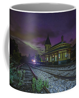 Aurora Over The Crawford Notch Depot Coffee Mug