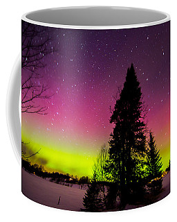 Aurora With Spruce Tree Coffee Mug by Tim Kirchoff
