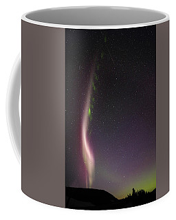 Auroral Phenomonen Known As Steve With A Large Meteor Coffee Mug