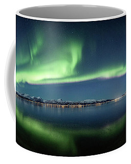 Auroras Over Langoya Island Coffee Mug