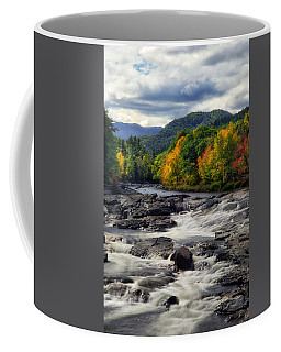 Coffee Mug featuring the photograph Ausable River Jay Ny by Mark Papke