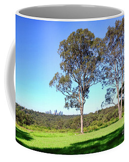 Coffee Mug featuring the photograph Aussie Gum Tree Landscape By Kaye Menner by Kaye Menner