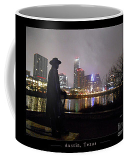 Austin Hike And Bike Trail - Iconic Austin Statue Stevie Ray Vaughn - One Greeting Card Poster Coffee Mug