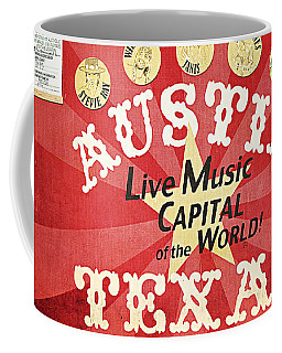 Austin Live Music Coffee Mug by Trish Mistric