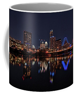 Austin Skyline At Night Coffee Mug