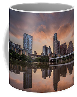 Austin Skyline Sunrise Reflection Coffee Mug