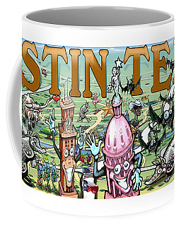 Coffee Mug featuring the digital art Austin Texas Fun Art by Kevin Middleton