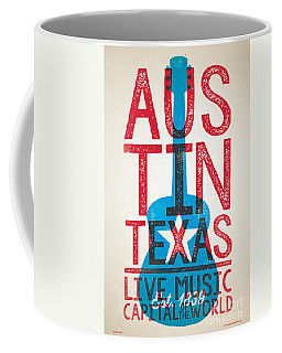 Austin Poster - Texas - Live Music Coffee Mug