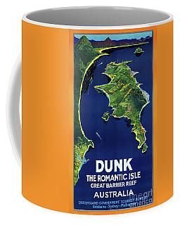 Australia Dunk Restored Vintage Travel Poster Coffee Mug by Carsten Reisinger