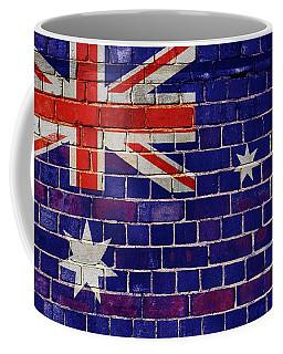 Australia Flag On A Brick Wall Coffee Mug