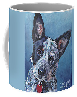 Coffee Mug featuring the painting Australian Cattle Dog by Lee Ann Shepard