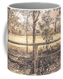 Australian Farm Fence Panorama Coffee Mug